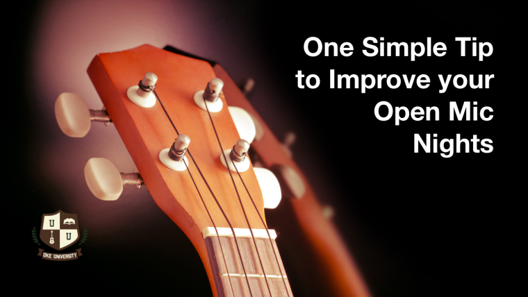 One simple tip to improve your open mic night performance ukulele