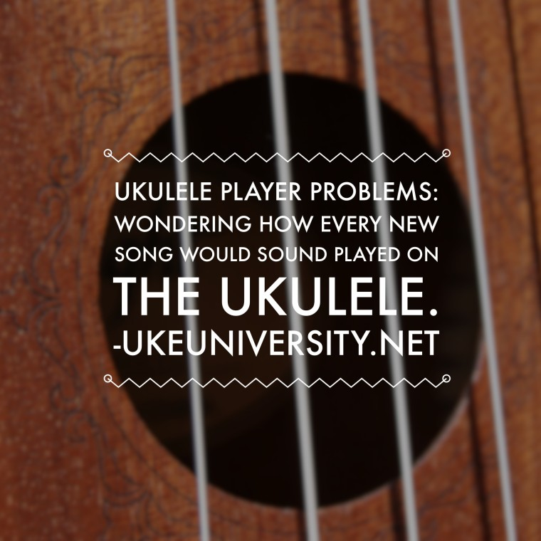 Ukulele player problems cover songs