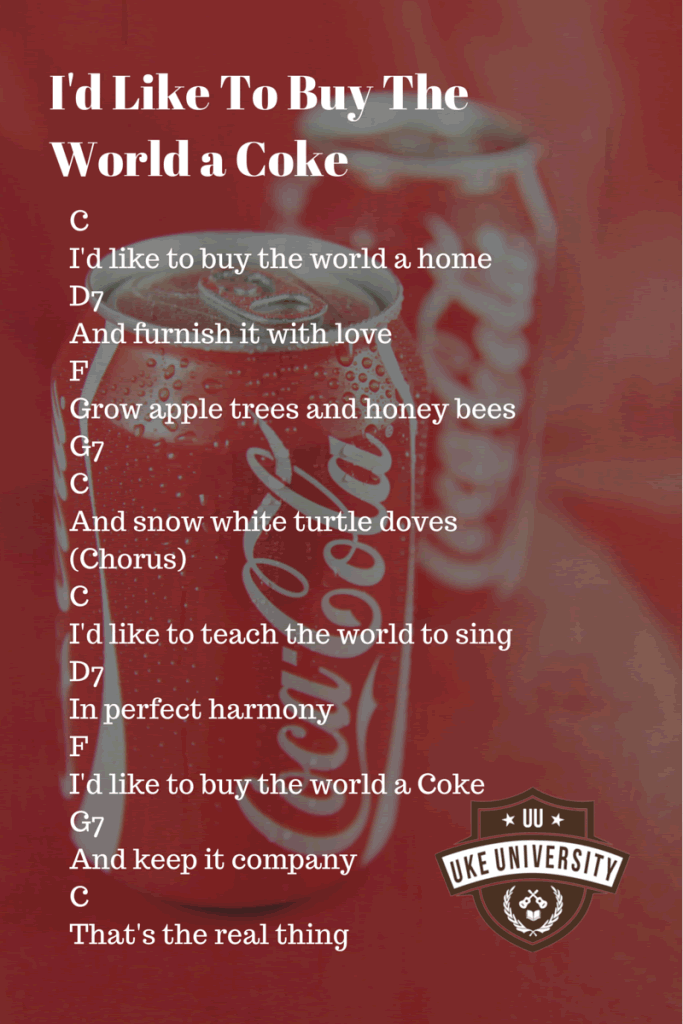 Buy the world a coke chords ukulele