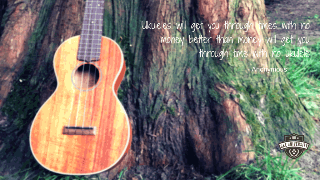 Ukuleles will get you through times with no money better than money will get you through times with no ukulele quote